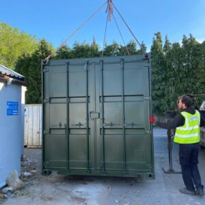 40ft overflow storage container delivery west midlands