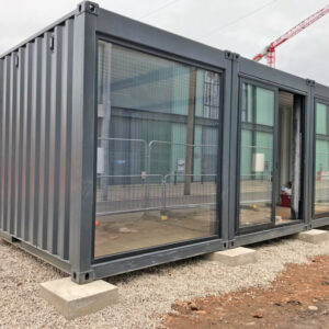 aluminium glazed doors for modified container