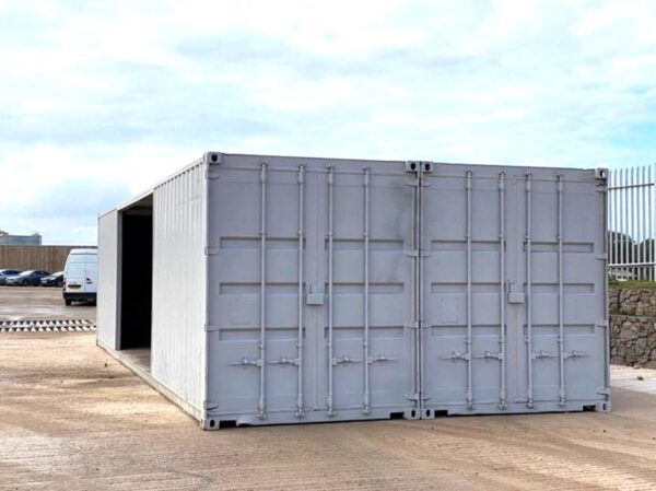 container double workshop conversion for sale