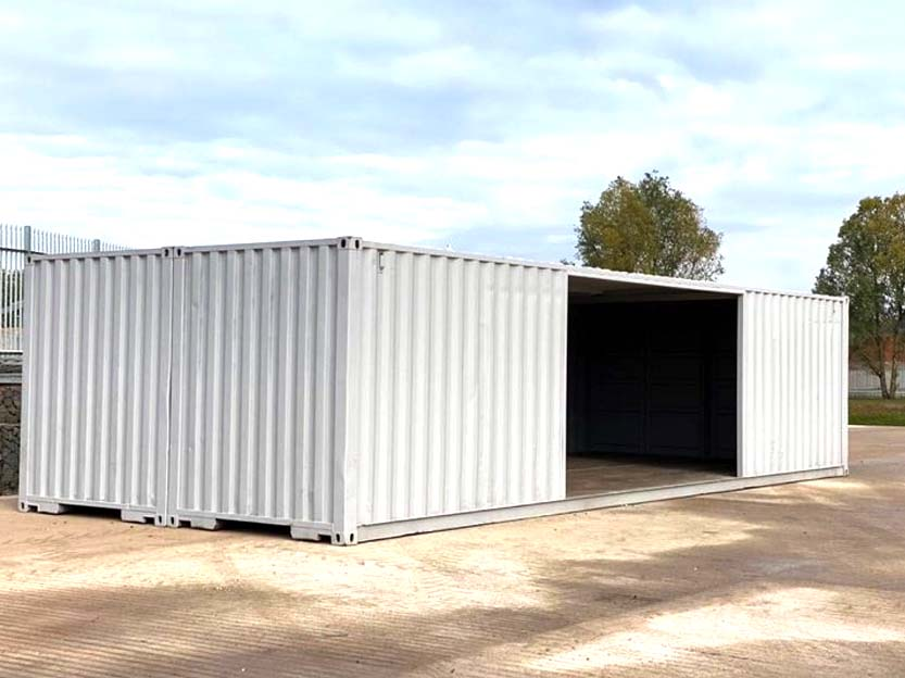 double shipping container workshop conversion for sale