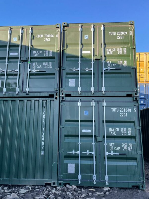 double stacked 20ft shipping containers