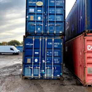 double stacked shipping containers