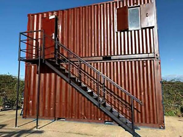 double stacked shipping containers as uk offices