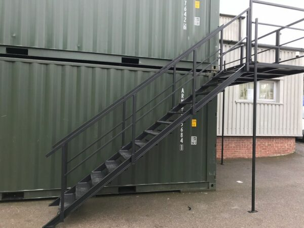 double stacked shipping container delivery