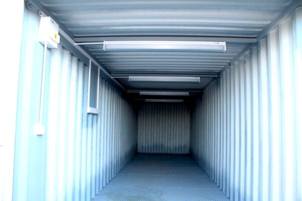 electrics for modified shipping container uk
