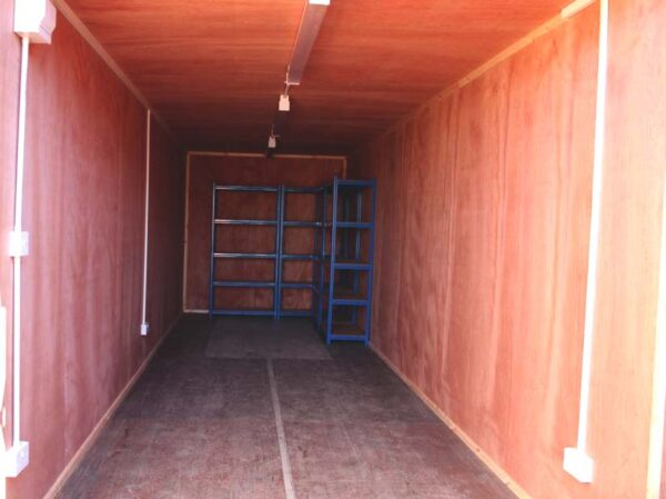electrics for shipping container modification