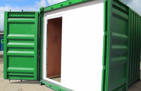 partition walls for shipping container modifications