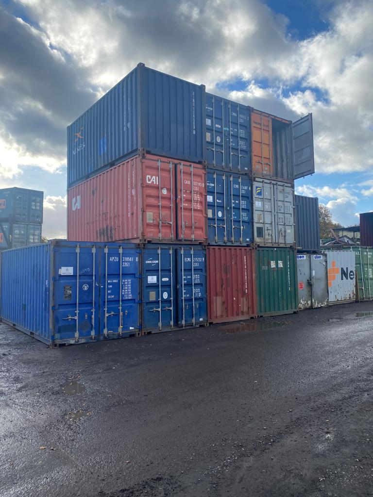 removal company storage containers