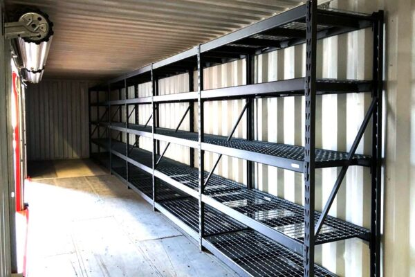 shelving and racking for shipping container storage uk