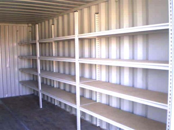 shelving modification for storage containers