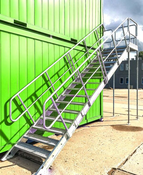 shipping container block staircase