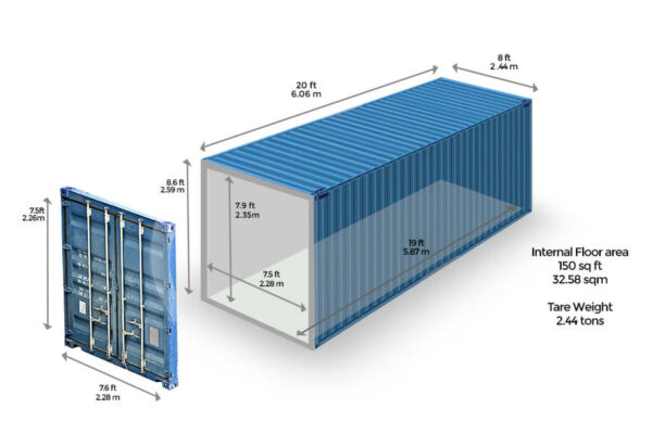 shipping container dimensions and sizes