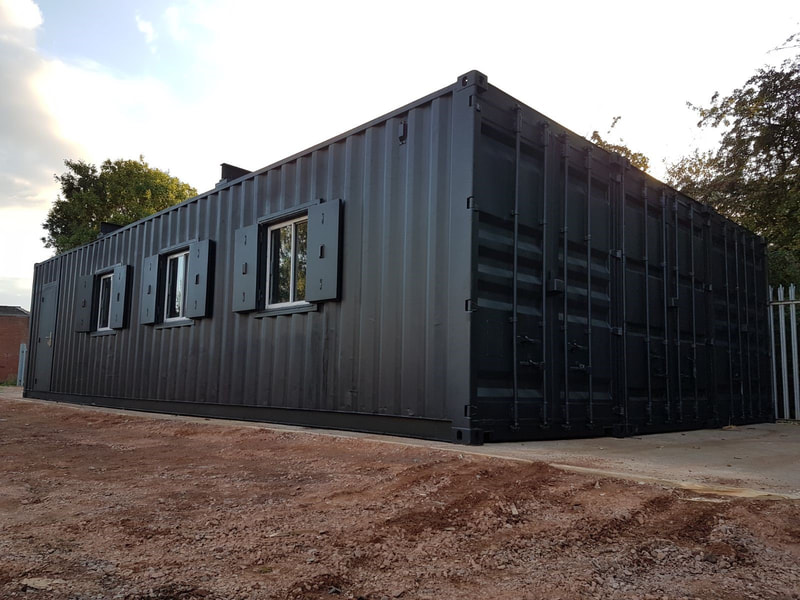 shipping container workshop for sale
