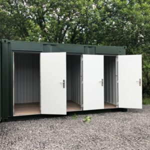 single personnel doors for shipping container toilets
