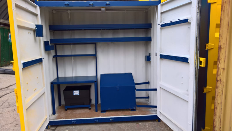 site workshop made from cube container coventry west midlands