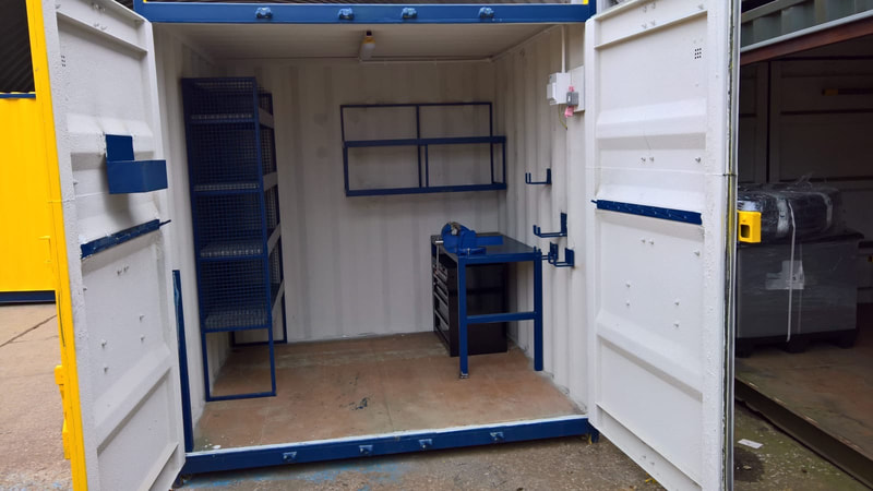 test lab cube designed steel containers coventry