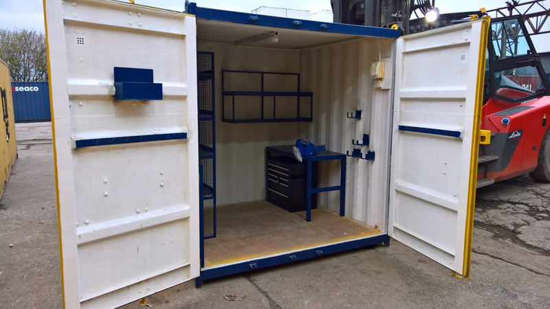 cube test lab modified container coventry