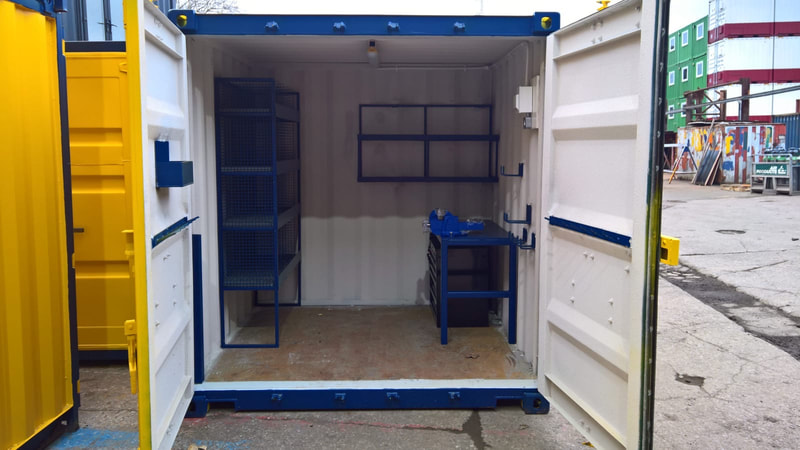 cube site workshop modified container coventry