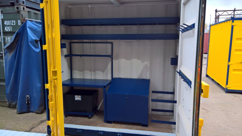test lab cube converted shipping container coventry
