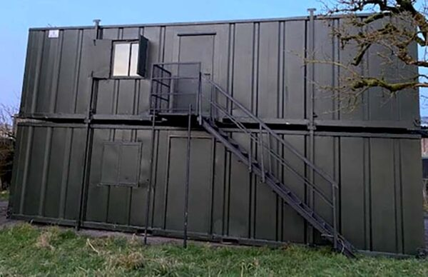staircase for container modification