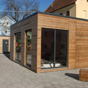 timber cladding for container office